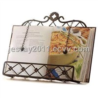 Iron Book Stand Metal Craft Suitable for Kitchen, Photo Album and Scrapbook