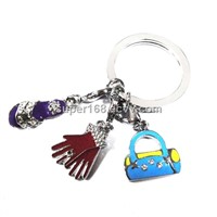 KC006 2010 most beautiful metal keychains jewelry