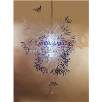 LED blown glass chandelier