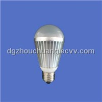 LED bulb light,  7W high power with high heatsinking