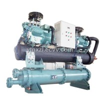 Low temperature semi-hermetic water chiller