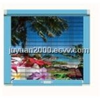 Luxury vertical pull bolt invisible screen window