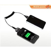 Mobile phone backup portable emergency charger 2400 mAh for iPod iPhone3G 3GS 4s MP4 IPAD