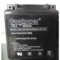 Motorcycle battery 12V5AH/12V7AH