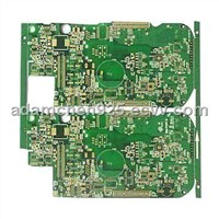 Multilayer PCB with 1.6mm Board Thickness, FR4 Material and Immersion Gold Finish, Used for Telecom