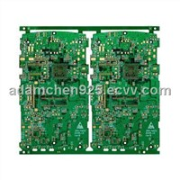 Multilayer PCB with 6 Layers and Gold Plating Surface Treatment, Applicable in MP4