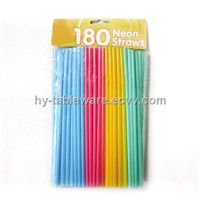 Neon Flexible Straws 180PK