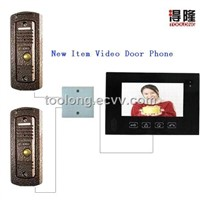 New Item Video Door Phone Kits with 2 Outdoor Unit +2pcs Rainproof Pinhole Camera