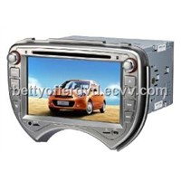 Nissan March in dash car dvd player with gps navigation/Bluetooth/Radio/Touch Screen
