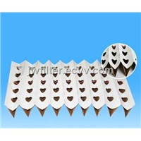 Pleated/Perforated cardboard filter for industrial spray booths