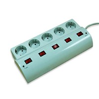 5 Way German Outlets Surge Protector