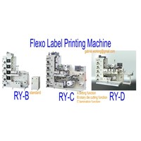 RY Series Flexo Label Printing machine
