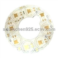 Single-sided Aluminum Base Circuit Board, Immersion Gold Surface Treatment