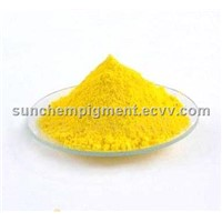 Slice-encapsulated Medium Chrome Yellow pigment PY.34