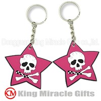 Star Shape PVC Key Chain for Promotion