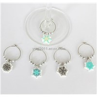 Summer Series Flowers Wine Glass Charm