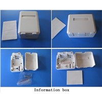 Surface wall-mounted Information box for RJ45 Cat5e Single-port or Double-port