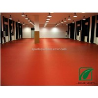 Table Tennis PVC Vinly sports Floor In Red Color