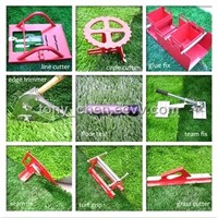 The complete tool set for the professional installation of synthetic grass