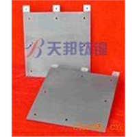 Titanium cathodic board