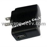 Universal Mobile Phone Battery Charger for Li-ion Battery Type, with USB Port