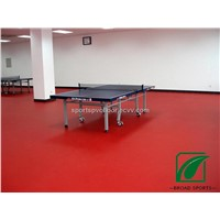 Vinly Table Tennis PVC sports Floor In Red Color