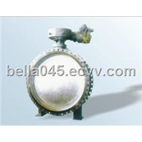 Worm wheel expansion metal seal butterfly valve