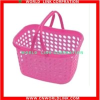 a single handle plastic shopping basket