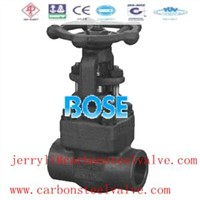 ansi sw gate valve forged steel a105
