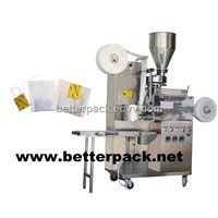 auto tea bags machinery with string and tag