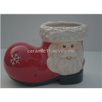 ceramic christmas shoes
