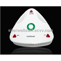 combination co, smoke and gas detector alarm