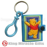 Customized Soft PVC Mini Notebook Keychain