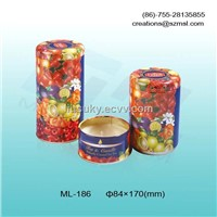 floral candle tin boxes