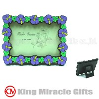 Flower Soft PVC Photo Frame as Gift