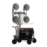 hand push lighting tower