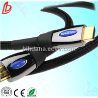 high speed 24k gold plated pure copper 1.4 version hdmi cable suitable for 3d tv
