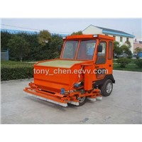 infilling machine for sand and rubber into modern artificial turf surfaces