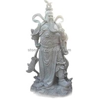 kuan kung,Ancient carved character statue, Chinese engraving