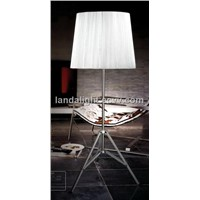 modern floor lamp with fabric lampshade