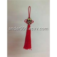 peking opera mask chinese knot