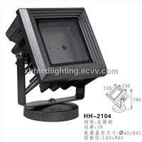 popcorn silver finishing color led garden light with special design square casing