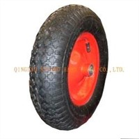 Popular Rubber Wheel 4.00-8 Welded Steel Rim