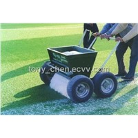 rubber and sand spreader for synthetic grass