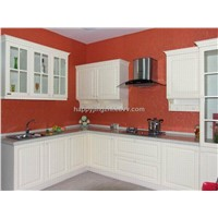 semi-gloss pvc modular kitchen cabinet