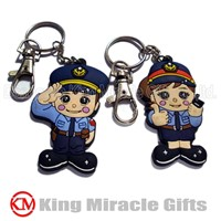 Soft PVC Souvenir Key Chain & Key Ring & Key Holder