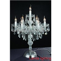 traditional European style crystal table lamp