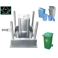 wheeled outside plastic dustbin mould injection mould
