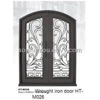 wrought iron entrance door HT-M026