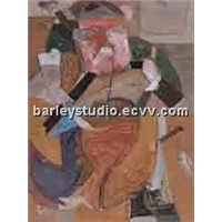 art gallery oil painting